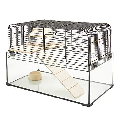 Pet Ting Godfree Hamsterkäfig, mit Glassockel, Zwerg/Maus, luxuriös