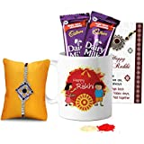 Tied Ribbons Rakhi Chocolate For Brother Designer Rakhi With Rakshabandhan Special Printed Coffee Mug And 2 Dairy...