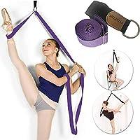 JJunLiM Yoga Ballet Leg Stretching Strap Back Bend Assist Trainer,Improve Back and Waist Flexibility,Door Flexibility Stretching Strap for Ballet,Dance,Yoga,Gymnastics,Cheerleading,Splits,workout