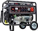 Detec. Generatore di corrente a benzina, generatore di corrente 5,5KW con forte corrente 230V + 400V.