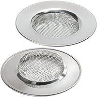 Homgaty Protector de 2piezas de acero inoxidable para lavabo, ducha, baño, fregadero, colador