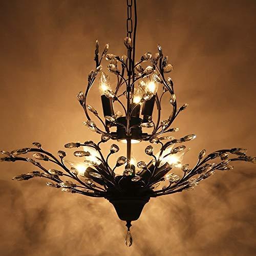 SGWH Kristall Baum Zweig Kronleuchter Amerikanischen Land Großes Wohnzimmer Kreative Persönlichkeit Restaurant Decke Café Retro Europäischen Lampen, 8
