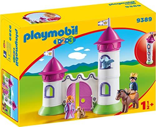 Playmobil- 1.2.3 Castillo Torre Apilable Juguete