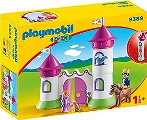 Playmobil- 1.2.3 Castillo con Torre Apilable Juguete, (geobra Brandstätter 9389)