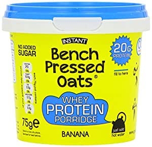 Bench Pressed Oats Banana Instant Whey Protein Porridge (Pack of 8)
