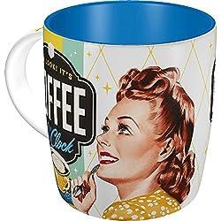 "Nostalgic-Art 43019Taza con diseño ""Say It 50's Coffee o' clock"""