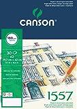 Canson 204127415 1557 Zeichen-und Skizzenpapier, A3, rein weiß