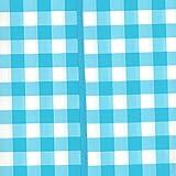 MERADISO Wachstuch Tischdecke, gesäumt, abwaschbar, rund (blau weiß kariert, ca. Ø 160 cm)