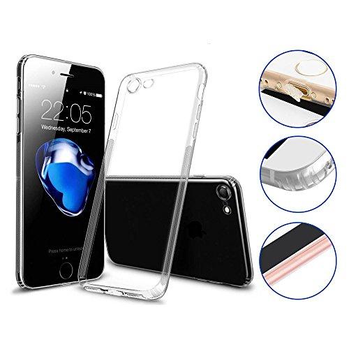 Premium Handyhülle kompatibel für Apple iPhone 7/8 - Hülle transparent Silikon - Schutzhülle viele Vorteile! - Cover Case Bumper mit Staubschutz -