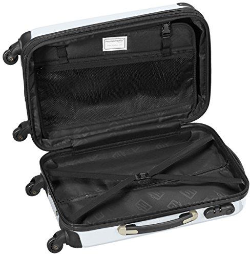 HAUPTSTADTKOFFER - Alex - Handgepäck Hartschalen-Koffer Trolley Rollkoffer Reisekoffer Erweiterbar, 4 Rollen, 55 cm, 42 Liter, Weiß - 6