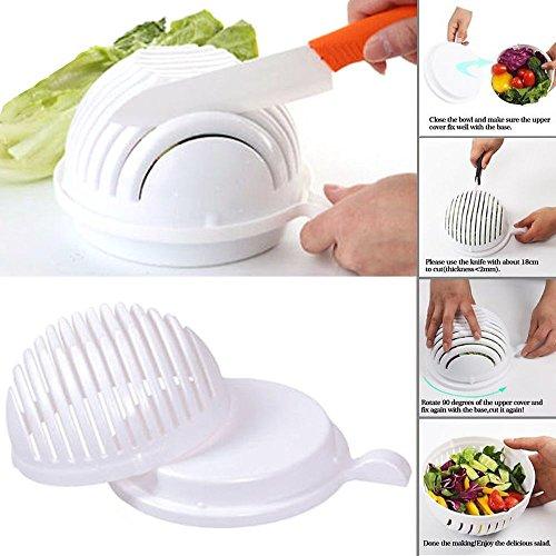 Q4U Hot Salad Cutter Bowl 60 Second Easy Make Salad Fresh Tool Slicer Fruit Washer - Easy Slicer