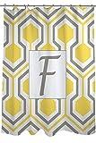 Telecharger Livres Manuel Woodworkers et Weavers Rideau de douche ornee d un Monogramme Lettre F jaune Nid d abeille (PDF,EPUB,MOBI) gratuits en Francaise
