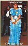 Prinzessin Diana Briefmarken für Sammler - Miniaturporträt Blatt der Prinzessin von Wales / Niger / 1997