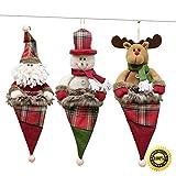 Morbuy Weihnachtsdekoration, 3PC Süßigkeitenbeutel Weihnachten Baum Innen Außen Deko Hänger für Weihnachten Festen Hochzeit Party Haus Terrasse Rasen