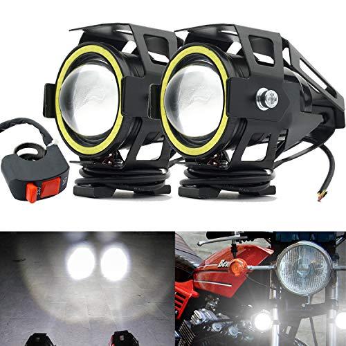 Motocicletas Luces de Niebla Luces de Trabajo Faros Delanteros 12V LED Bombillas...