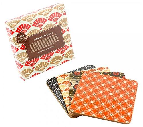 WILLIAM MORRIS (William Morris) William Morris Untersetzer Set von 4Ergänzende Japanische Textilien Design. -