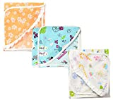 First Step Baby Cotton Blanket (Multicol...