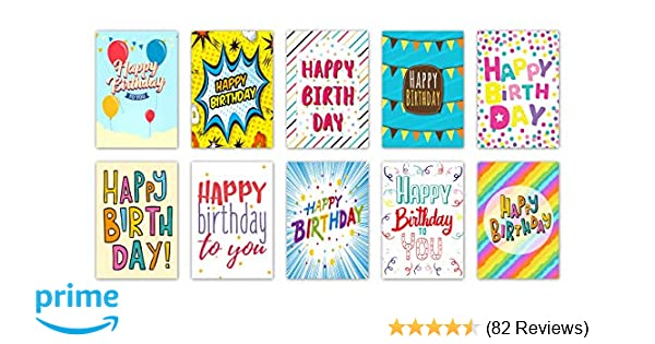 20Words Design Birthday Cards Envelopes By Greetingles 10 Designs Made In UK Amazoncouk Office Products