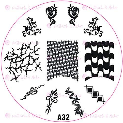 Pochoir de stamping # A de 32