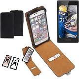 K-S-Trade Flipstyle Case für Fairphone Fairphone 2 Schutzhülle Handy Schutz Hülle Tasche Handytasche Handyhülle + integrierter Bumper Kameraschutz, schwarz (1x)