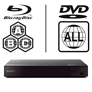 SONY BDP-S6700 Smart 3D 4K Upscaling WiFi ICOS Multi Region All Zone Code Free Blu-ray Player Blu-ray Zones A, B and C, DVD Regions 1-8. DLNA YouTube, Netflix etc HDMI and Coaxial Audio Output SACD
