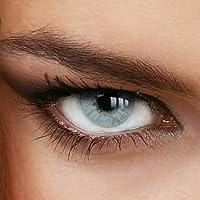 Farbige Jahres-Kontaktlinsen Naturally SWEET GRAY-GREEN - in GRAU-GRÜN - von LUXDELUX® - (-1.50 DPT in Minus)