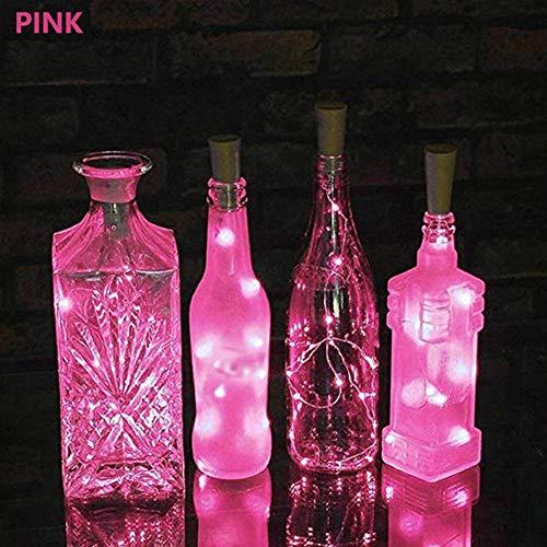olar Kork Wein Flasche Stopper Kupfer Draht Schnur Lichter Fee Lampen (Rosa) ()