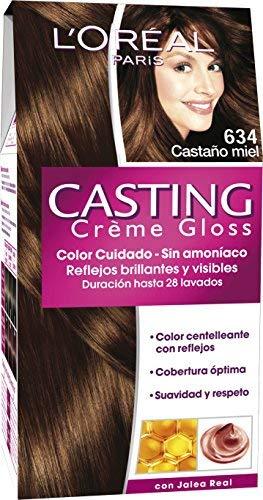 L'Oreal Paris Casting Crème GlossColoración Sin Amoniaco, Tono: 634 Castaño Miel