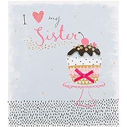 Hallmark Schwester Geburtstagskarte 'Love' – Medi