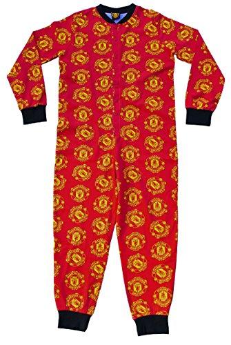 Thepyjamafactory manchester united tutina da 7a 13anni uomo united tutina all in one pigiama rosso red 9-10 anni