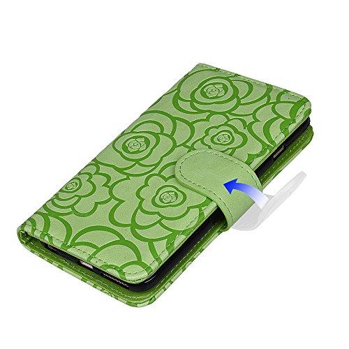 """xhorizon TM FM8 [Aktualisiert] 2 in 1 Top Notch Rosa Amboss Magnetisch Car MountPhone Halter Kompatibel Folio Leder Brieftasche Case für iPhone 6 Plus / iPhone 6S Plus [5.5""""] mit einem 9H Ausgeglich Minze"""