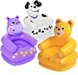 Intex aufblasbarer Kinder Sessel Tiermotiv Bär Kinderzimmer Garten