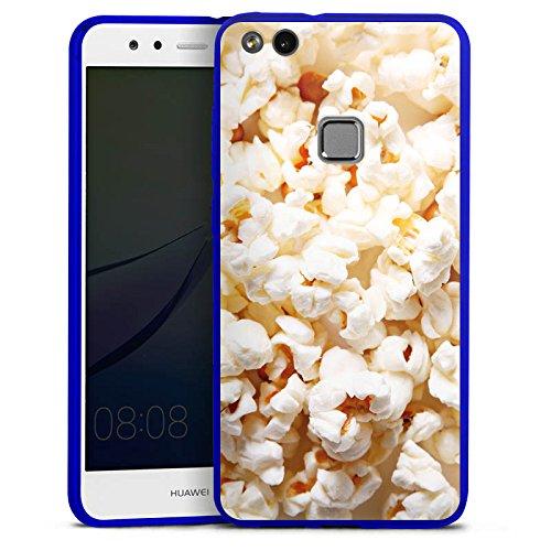 Huawei P10 lite Slim Case transparent blau Silikon Hülle Schutzhülle Kino Popcorn Poppin Corn