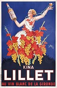 Kina Lillet Par vin de raisins Posters Affiche publicitaire Vintage 38,1 x 58,4