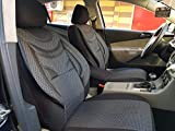 Sitzbezüge k-maniac | Universal schwarz-grau | Autositzbezüge Set Komplett | Autozubehör Innenraum | Auto Zubehör für Frauen und Männer | NO2220215 | Kfz Tuning | Sitzbezug | Sitzschoner