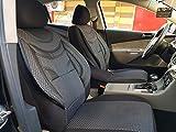 Sitzbezüge K-Maniac für Mercedes C-Klasse T S204 | Universal schwarz-grau | Autositzbezüge Set Komplett | Autozubehör Innenraum | NO2225399 | Kfz Tuning | Sitzbezug | Sitzschoner