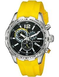Nautica hombre nad15514g NST 30 analógico pantalla Cuarzo Amarillo Reloj