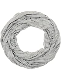 Kandharis Jersey Loop unifarbenes leichter Crinkle-Loopschal Schal elastisch Crash-Optik Damen Herren JC39