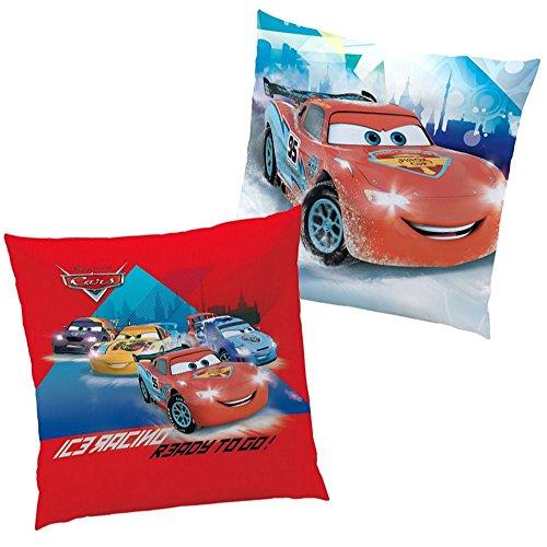 Disney Cars - Kinder Kissen Dekokissen Ice Racer Lightning McQueen 40x40cm