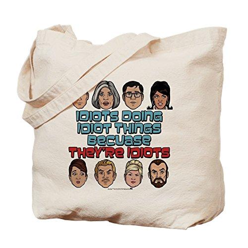 CafePress Archer Idioten-natürliche Canvas Tote Bag, Tuch, mit Tasche, canvas, khaki, M -