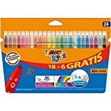 BIC Kids Kid Couleur Feutres de Coloriage - Etui Carton de 18+6