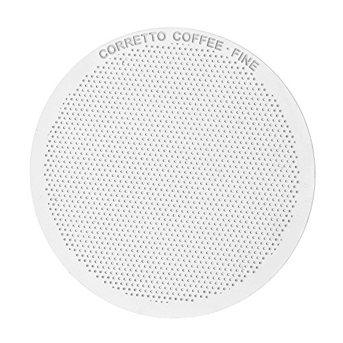 3 Pro Stainless Steel Filters for AeroPress by Corretto Coffee - FINE, ULTRA-FINE & MESH + Lifetime...
