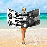 Jacklee Mikrofaser-Strandtücher - Guitars großes Reise-Handtuch, Ultra saugstark, Schnell trocknend Gym Handtuch für Männer, Frauen And Kinder