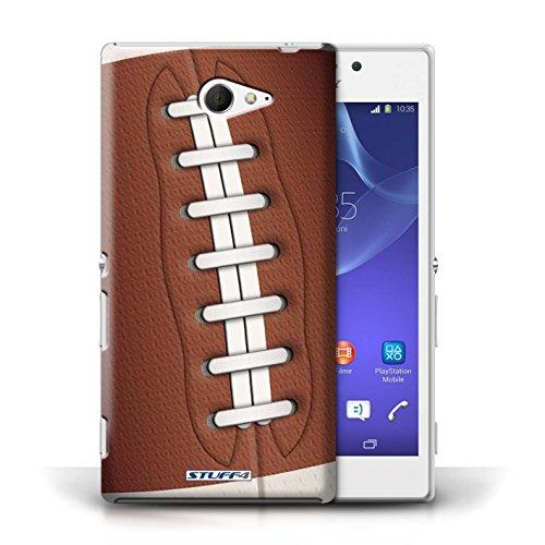 Kobalt® Imprimé Etui / Coque pour Sony Xperia M2 / Billard/Pool conception / Série Balle Sportif Football américain