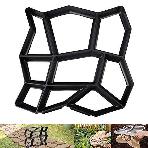 skyiy - stampo per pavimenti, in calcestruzzo, riutilizzabile, per pavimentazione fai da te, durevole per giardini e prati