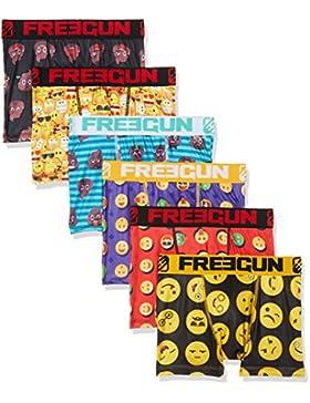 Freegun Boxer, Shorts para Niños (Pack de 6)