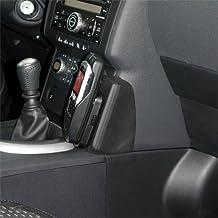 Kuda–Consola de teléfono para Nissan Qashqai a partir de 02/2007piel negro