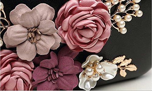 Koreanische Version der Art und Weise Retro- Beutel, Blumenhandtaschen, Pakete, Klippbeutel, Abendbeutel ( Farbe : Pink ) Weiß