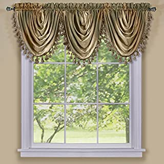 Achim Home Furnishings Ombre Waterfall Valance, Earth