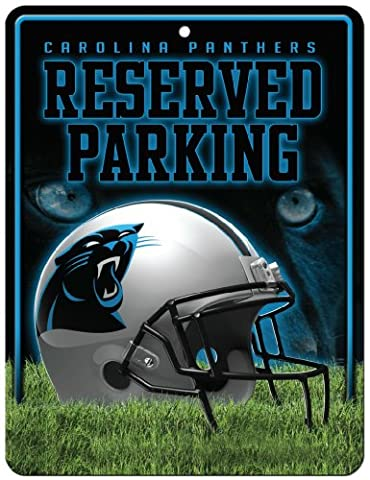 NFL Carolina Panthers Hi-Res Metal Parking Sign